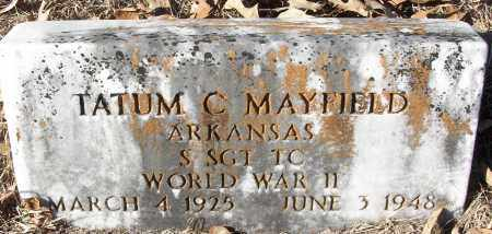 MAYFIELD (VETERAN WWII), TATUM C - White County, Arkansas | TATUM C MAYFIELD (VETERAN WWII) - Arkansas Gravestone Photos
