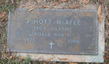 MCAFEE (VETERAN WWII), J HOYT - White County, Arkansas | J HOYT MCAFEE (VETERAN WWII) - Arkansas Gravestone Photos