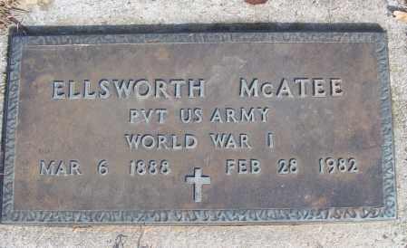 MCATEE (VETERAN WWI), ELLSWORTH - White County, Arkansas | ELLSWORTH MCATEE (VETERAN WWI) - Arkansas Gravestone Photos