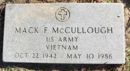 MCCULLOUGH (VETERAN VIET), MACK F - White County, Arkansas | MACK F MCCULLOUGH (VETERAN VIET) - Arkansas Gravestone Photos