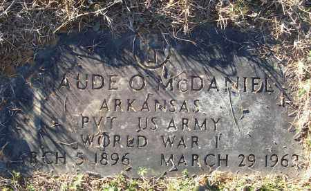MCDANIEL (VETERAN WWI), CLAUDE O - White County, Arkansas | CLAUDE O MCDANIEL (VETERAN WWI) - Arkansas Gravestone Photos