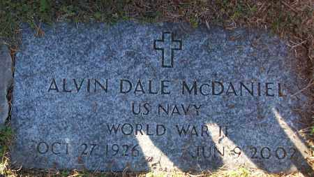 MCDANIEL (VETERAN WWII), ALVIN DALE - White County, Arkansas | ALVIN DALE MCDANIEL (VETERAN WWII) - Arkansas Gravestone Photos
