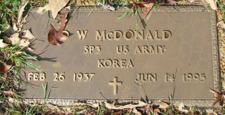 MCDONALD (VETERAN KOR), D W - White County, Arkansas | D W MCDONALD (VETERAN KOR) - Arkansas Gravestone Photos