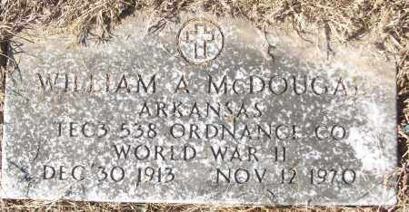 MCDOUGAL (VETERAN WWII), WILLIAM A - White County, Arkansas | WILLIAM A MCDOUGAL (VETERAN WWII) - Arkansas Gravestone Photos