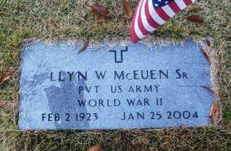MCEUEN, SR  (VETERAN WWII), LLYN W. - White County, Arkansas | LLYN W. MCEUEN, SR  (VETERAN WWII) - Arkansas Gravestone Photos