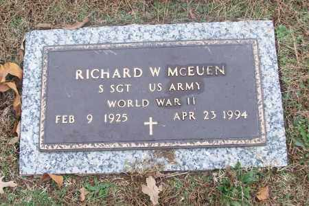 MCEUEN  (VETERAN WWII), RICHARD W - White County, Arkansas | RICHARD W MCEUEN  (VETERAN WWII) - Arkansas Gravestone Photos