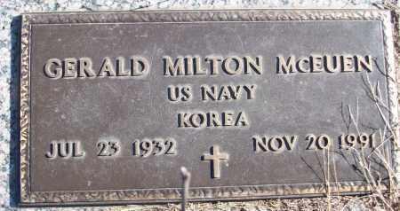 MCEUEN (VETERAN KOR), GERALD MILTON - White County, Arkansas | GERALD MILTON MCEUEN (VETERAN KOR) - Arkansas Gravestone Photos
