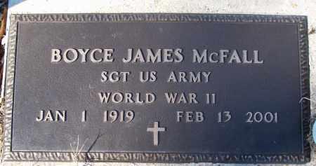 MCFALL (VETERAN WWII), BOYCE JAMES - White County, Arkansas | BOYCE JAMES MCFALL (VETERAN WWII) - Arkansas Gravestone Photos