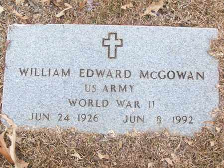 MCGOWAN (VETERAN WWII), WILLIAM EDWARD - White County, Arkansas | WILLIAM EDWARD MCGOWAN (VETERAN WWII) - Arkansas Gravestone Photos