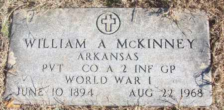 MCKINNEY  (VETERAN WWI), WILLIAM A. - White County, Arkansas | WILLIAM A. MCKINNEY  (VETERAN WWI) - Arkansas Gravestone Photos