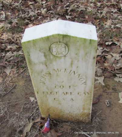 MCKINNON (VETERAN CSA), JOHN - White County, Arkansas   JOHN MCKINNON (VETERAN CSA) - Arkansas Gravestone Photos