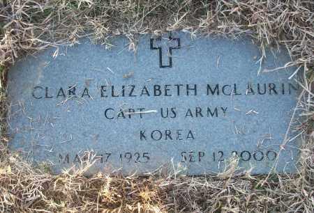 MCLAURIN (VETERAN KOR), CLARA ELIZABETH - White County, Arkansas | CLARA ELIZABETH MCLAURIN (VETERAN KOR) - Arkansas Gravestone Photos
