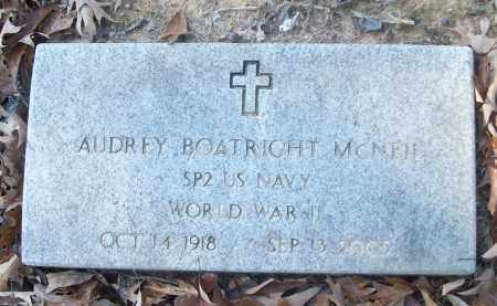 BOATRIGHT MCNEIL (VETERAN WWII, AUDREY - White County, Arkansas | AUDREY BOATRIGHT MCNEIL (VETERAN WWII - Arkansas Gravestone Photos