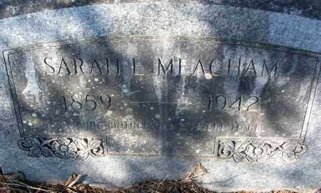 MEACHAM, SARAH E. - White County, Arkansas | SARAH E. MEACHAM - Arkansas Gravestone Photos