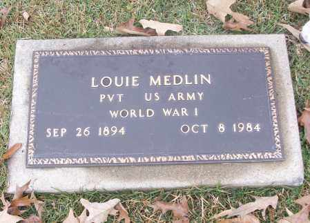 MEDLIN  (VETERAN WWI), LOUIE - White County, Arkansas | LOUIE MEDLIN  (VETERAN WWI) - Arkansas Gravestone Photos