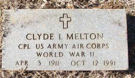MELTON (VETERAN WWII), CLYDE L - White County, Arkansas | CLYDE L MELTON (VETERAN WWII) - Arkansas Gravestone Photos
