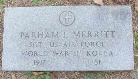 MERRITT (VETERAN 2 WARS), PARHAM L - White County, Arkansas | PARHAM L MERRITT (VETERAN 2 WARS) - Arkansas Gravestone Photos