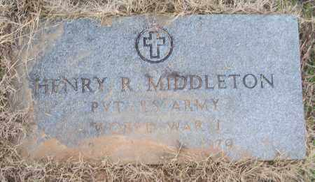 MIDDLETON (VETERAN WWI), HENRY R - White County, Arkansas | HENRY R MIDDLETON (VETERAN WWI) - Arkansas Gravestone Photos