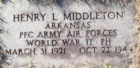 MIDDLETON (VETERAN WWII), HENRY L - White County, Arkansas   HENRY L MIDDLETON (VETERAN WWII) - Arkansas Gravestone Photos