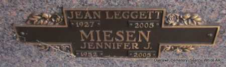 MIESEN  (VETERAN), JEAN LEGGETT - White County, Arkansas | JEAN LEGGETT MIESEN  (VETERAN) - Arkansas Gravestone Photos