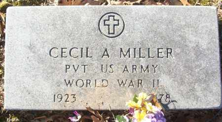 MILLER (VETERAN WWII), CECIL A - White County, Arkansas | CECIL A MILLER (VETERAN WWII) - Arkansas Gravestone Photos