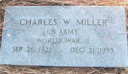 MILLER (VETERAN WWII), CHARLES W - White County, Arkansas | CHARLES W MILLER (VETERAN WWII) - Arkansas Gravestone Photos