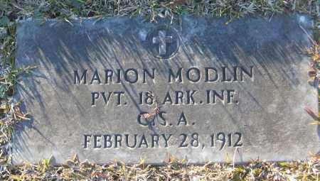 MODLIN (VETERAN CSA), MARION - White County, Arkansas | MARION MODLIN (VETERAN CSA) - Arkansas Gravestone Photos