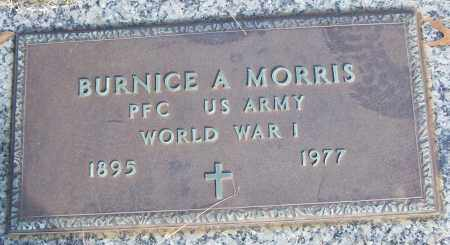 MORRIS (VETERAN WWI), BURNICE A - White County, Arkansas | BURNICE A MORRIS (VETERAN WWI) - Arkansas Gravestone Photos