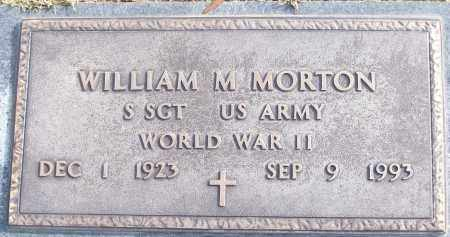 MORTON (VETERAN WWII), WILLIAM M - White County, Arkansas | WILLIAM M MORTON (VETERAN WWII) - Arkansas Gravestone Photos