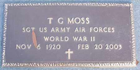 MOSS (VETERAN WWII), T G - White County, Arkansas | T G MOSS (VETERAN WWII) - Arkansas Gravestone Photos