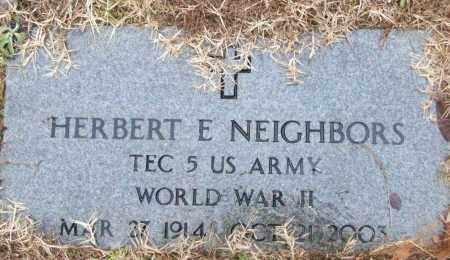 NEIGHBORS (VETERAN WWII), HERBERT E - White County, Arkansas | HERBERT E NEIGHBORS (VETERAN WWII) - Arkansas Gravestone Photos