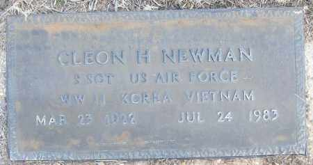 NEWMAN (VETERAN 3 WARS), CLEON H - White County, Arkansas | CLEON H NEWMAN (VETERAN 3 WARS) - Arkansas Gravestone Photos