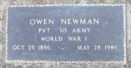 NEWMAN (VETERAN WWI), OWEN - White County, Arkansas | OWEN NEWMAN (VETERAN WWI) - Arkansas Gravestone Photos