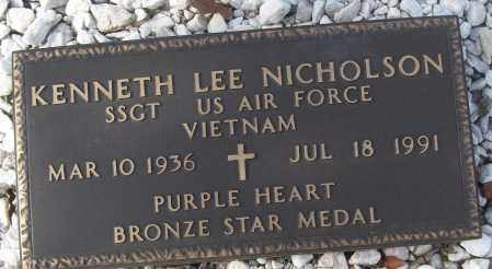 NICHOLSON (VETERAN VIET), KENNETH LEE - White County, Arkansas | KENNETH LEE NICHOLSON (VETERAN VIET) - Arkansas Gravestone Photos
