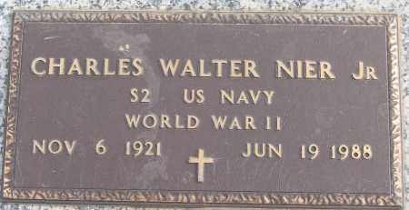 NIER, JR (VETERAN WWII), CHARLES WALTER - White County, Arkansas | CHARLES WALTER NIER, JR (VETERAN WWII) - Arkansas Gravestone Photos