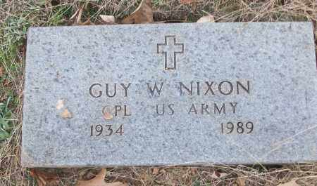 NIXON (VETERAN), GUY W - White County, Arkansas | GUY W NIXON (VETERAN) - Arkansas Gravestone Photos