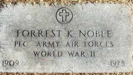 NOBLE (VETERAN WWII), FORREST K ) - White County, Arkansas | FORREST K ) NOBLE (VETERAN WWII) - Arkansas Gravestone Photos