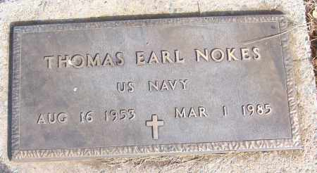 NOKES (VETERAN), THOMAS EARL - White County, Arkansas | THOMAS EARL NOKES (VETERAN) - Arkansas Gravestone Photos