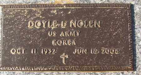 NOLEN (VETERAN KOR), DOYLE L - White County, Arkansas | DOYLE L NOLEN (VETERAN KOR) - Arkansas Gravestone Photos