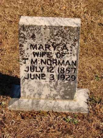 NORMAN, MARY A - White County, Arkansas | MARY A NORMAN - Arkansas Gravestone Photos