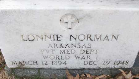 NORMAN (VETERAN WWI), LONNIE - White County, Arkansas | LONNIE NORMAN (VETERAN WWI) - Arkansas Gravestone Photos