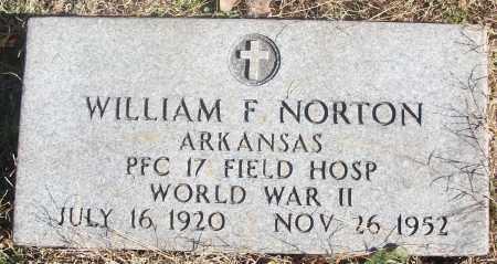 NORTON  (VETERAN WWII), WILLIAM F - White County, Arkansas | WILLIAM F NORTON  (VETERAN WWII) - Arkansas Gravestone Photos