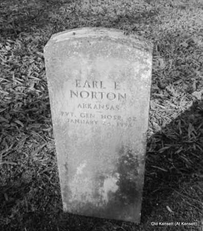 NORTON (VETERAN), EARL E - White County, Arkansas | EARL E NORTON (VETERAN) - Arkansas Gravestone Photos