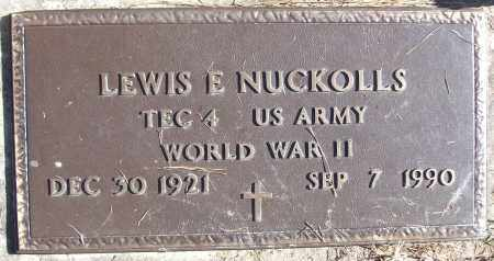 NUCKOLLS (VETERAN WWII), LEWIS E - White County, Arkansas | LEWIS E NUCKOLLS (VETERAN WWII) - Arkansas Gravestone Photos