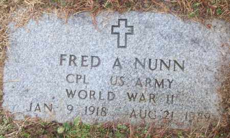 NUNN (VETERAN WWII), FRED A - White County, Arkansas | FRED A NUNN (VETERAN WWII) - Arkansas Gravestone Photos