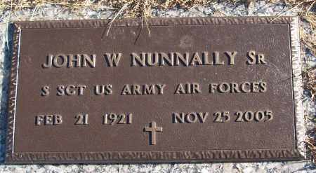 NUNNALLY, SR (VETERAN), JOHN W - White County, Arkansas | JOHN W NUNNALLY, SR (VETERAN) - Arkansas Gravestone Photos