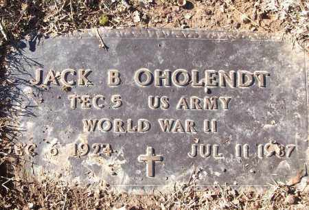 OHOLENDT (VETERAN WWII), JACK B - White County, Arkansas | JACK B OHOLENDT (VETERAN WWII) - Arkansas Gravestone Photos