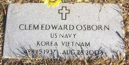 OSBORN (VETERAN 2 WARS), CLEM EDWARD - White County, Arkansas | CLEM EDWARD OSBORN (VETERAN 2 WARS) - Arkansas Gravestone Photos