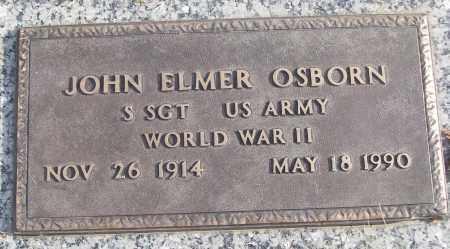 OSBORN (VETERAN WWII), JOHN ELMER - White County, Arkansas | JOHN ELMER OSBORN (VETERAN WWII) - Arkansas Gravestone Photos