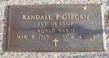 OSBORN (VETERAN WWII), RANDALL F - White County, Arkansas | RANDALL F OSBORN (VETERAN WWII) - Arkansas Gravestone Photos